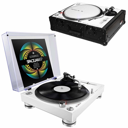 Pioneer DJ PLX-500 (white) with ProX Black Turntable Case