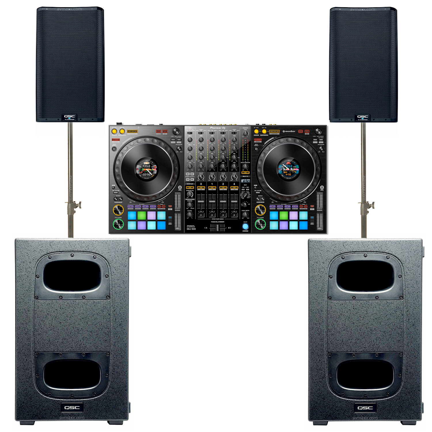 Pioneer DDJ-1000 With QSC K12 2 and KS212C Package