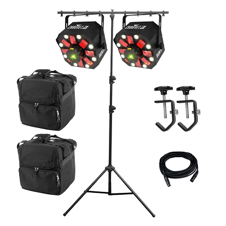 Chauvet DJ Swarm 5 FX Duo Package w Lighting Stand