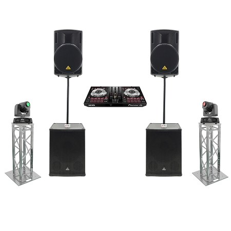 Behringer 215d and B1800XP Complete DJ System