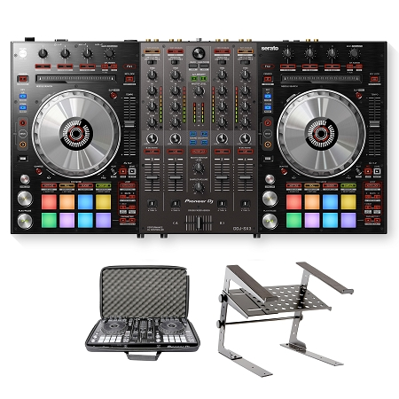 Pioneer DJ DDJ-SX3 With Laptop Stand and Carriyng Bag Package Deal