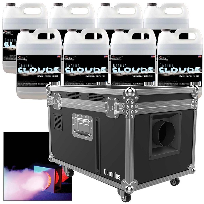 Chauvet DJ Cumulus Package With Ground Clouds Fluid