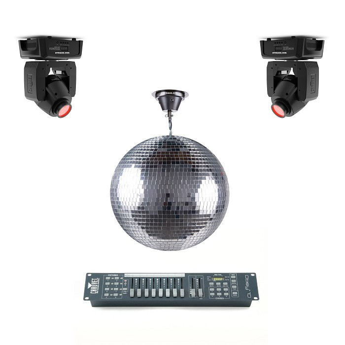 Disco Ball & Moving Head Package
