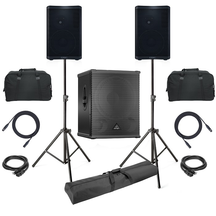 QSC CP12 and Behirnger B1800XP Fitness Sound System