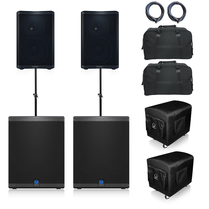 QSC CP12 and Turbosound iQ15b Package
